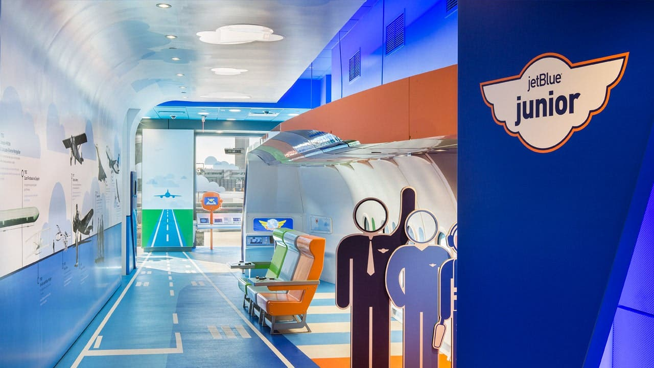 Kids will find the JetBlue Junior playspace just plane awesome.