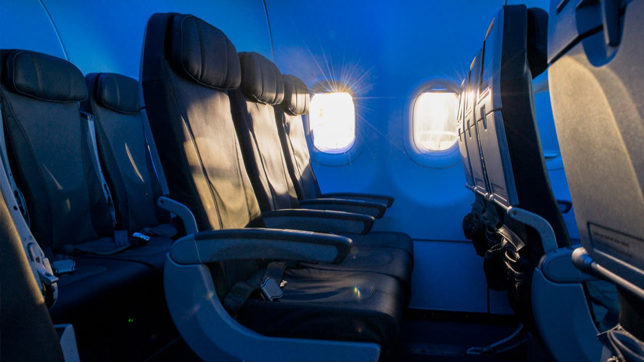 Row of Even More® Space seats showcasing legroom.