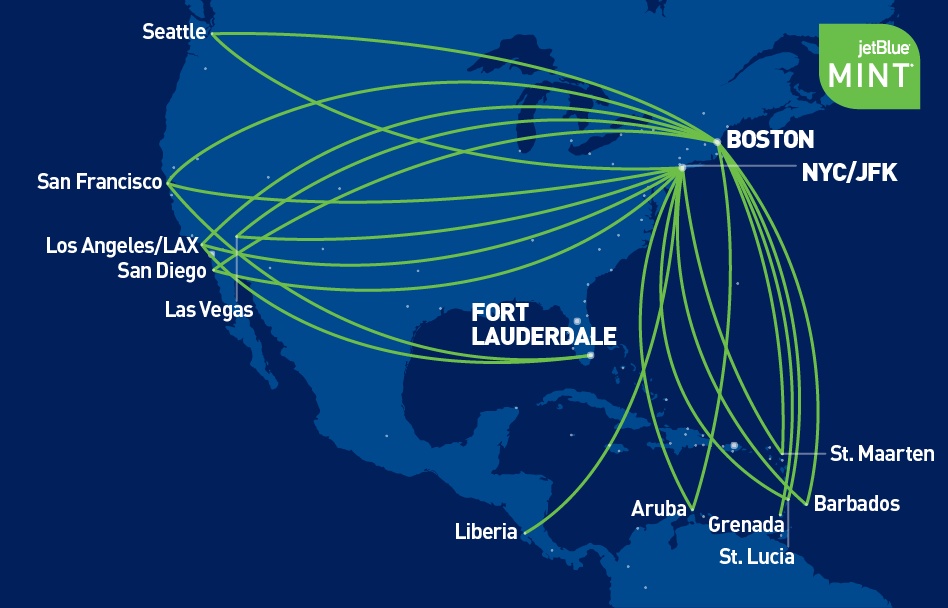 Mint | JetBlue Map Jetblueroute on