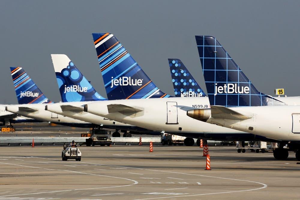 Image showing various JetBlue tailfins